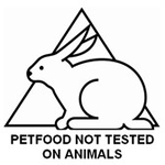 PETFOOD NOT TESTED ON ANIMALS